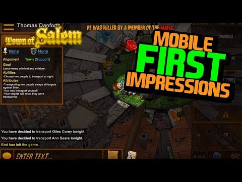 TOWN OF SALEM MOBILE | First Impressions Of Mobile Town Of Salem