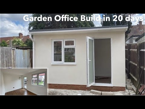 How to build a garden office in 20 days – step by step instructions