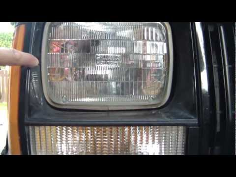 DIY Auto: Truck-Lite 27450C3 LED Headlamp Installation Into 1990 Jeep Cherokee XJ.