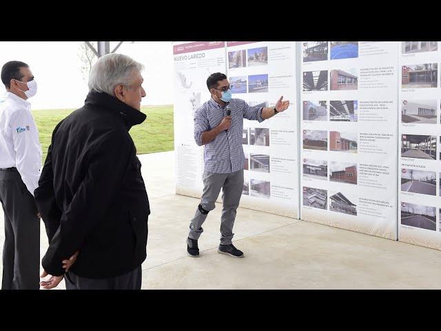Acciones de mejoramiento urbano, desde Nuevo Laredo, Tamaulipas