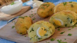 Картофени Крокети Potato Egg Kabab Картофельные крокеты