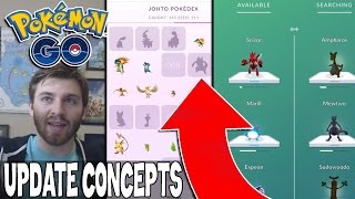 THIS WOULD BE A GOD UPDATE FOR POKEMON GO! New Update Concepts & Ideas!!