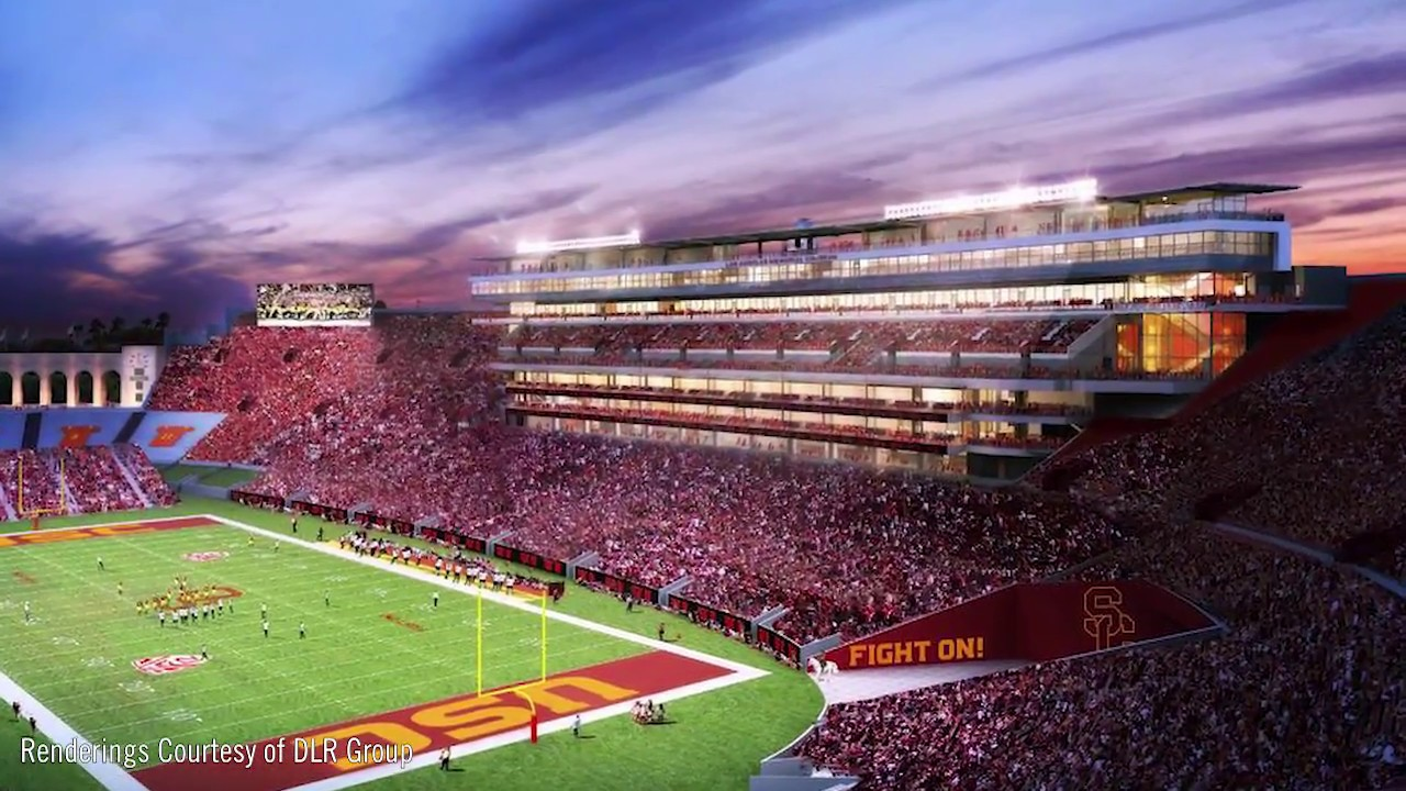 Los Angeles Memorial Coliseum Topping Out Youtube