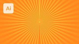Create a Vector Sunburst in Illustrator
