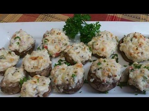 Cream Cheese And Crab Stuffed Mushrooms
