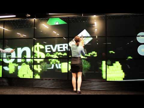 World´s largest interactive multi-touch wall