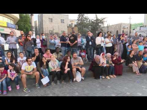 فريق Drum Jam - العزف على الطبول /أسبوع جبل عمان الثقافي 4