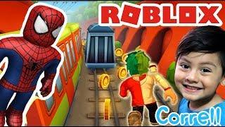 Subway Surfers en Roblox | Skin de Spiderman | Blox Surfers Juegos Roblox para niños