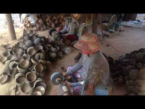 How to make coconut shell bowl, Ha Thai lacquer - www.lacquerhomevn.com