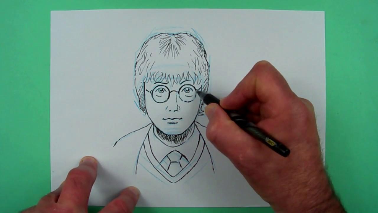 wie zeichnet man harry potter? zeichnen für kinder - youtube