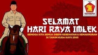 Prabowo & Gerindra: Selamat Hari Raya Imlek - Tahun Baru Kuda Kayu 2565