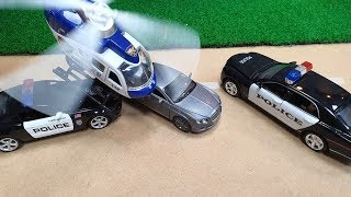 Police Cars Stuck in the Mud | Car Wash Video For Kids | Toy Police Car for Kids