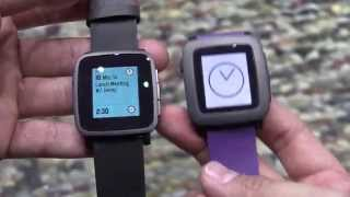 Pebble Time and Pebble Time Steel Hands On [English]