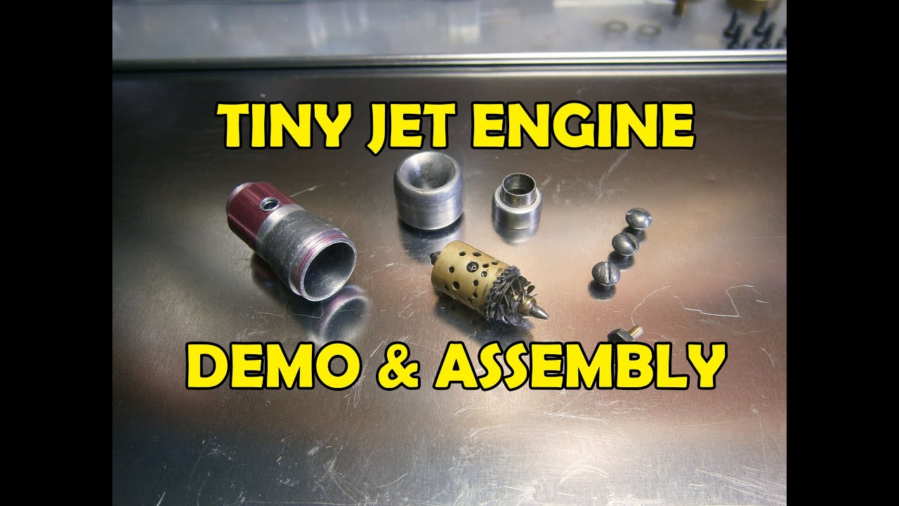 Tiny Jet Engine Demo Internal & External parts & Assembly