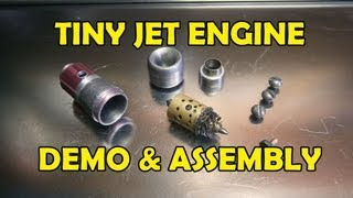 Tiny Jet Engine: Demo (internal & External Parts) & Assembly