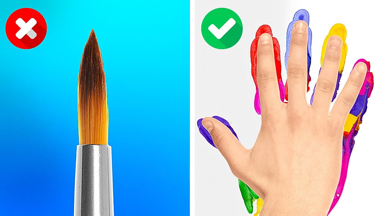 Funny And Simple Art Ideas For Beginners || Genius Drawing Tricks And Painting Hacks
