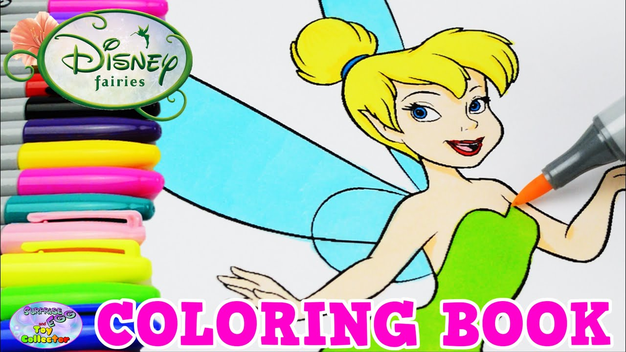 disney coloring book tinkerbell fairies episode surprise egg and toy