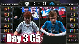 Invictus Gaming vs Cloud 9 | Day 3 Game 5 Group B LoL S5 World Championship 2015 | IG vs C9 D3G5