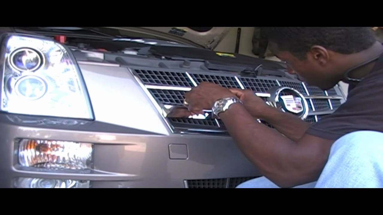 Part 2 Chrome out the grill of your Cadillac Sts or other car