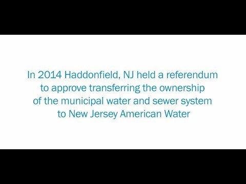 Haddonfield Partnership with New Jersey American Water