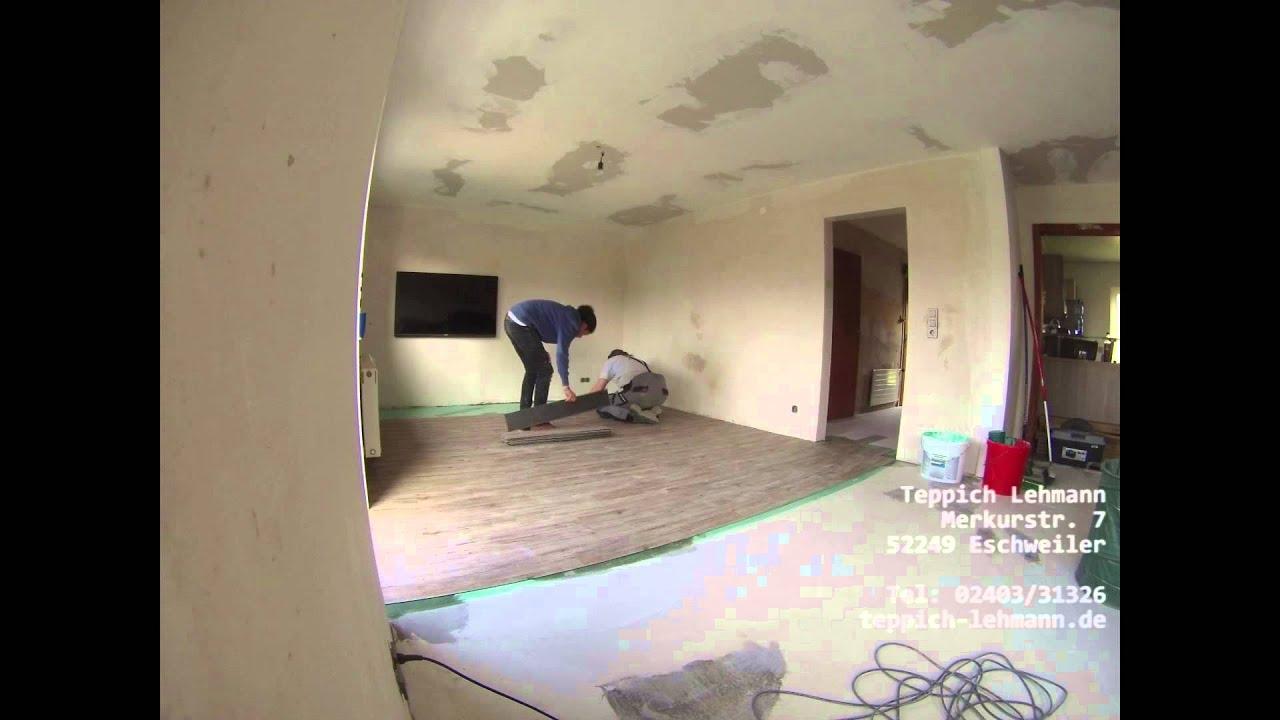 designbelag in heller holzoptik fertig verlegt teppich. Black Bedroom Furniture Sets. Home Design Ideas