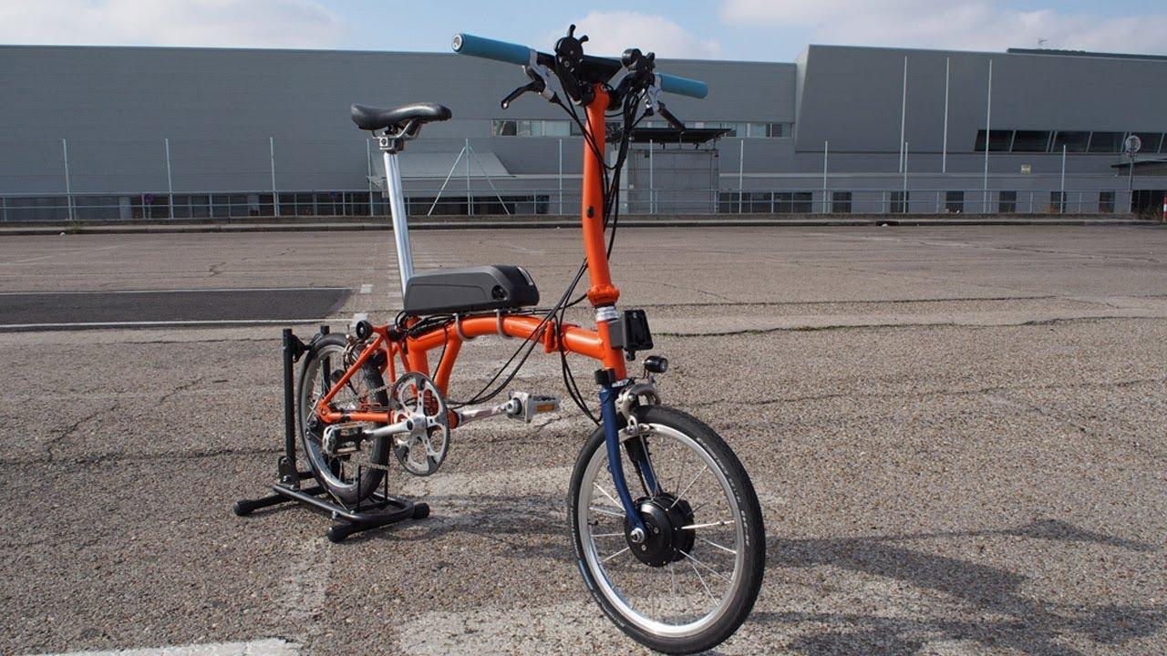 Brompton Electric Kit Mk4 45km H Pedal Assist Youtube