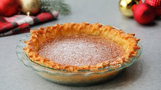 Eggnog Custard Pie // Presented by LG USA