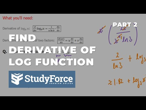 📚 How to find the derivative of logarithmic functions (Part 2)