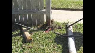 Diy Fence Repair With The Wood Post Puller: Remove & Replace Fence Posts Set In Concrete Footings