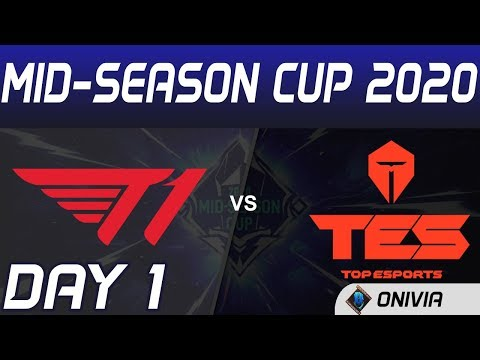T1 Vs TES Highlights Day 1 Mid Season Cup 2020 T1 Vs Top Esports By Onivia