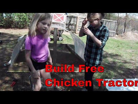 Free chicken tractor build part 1