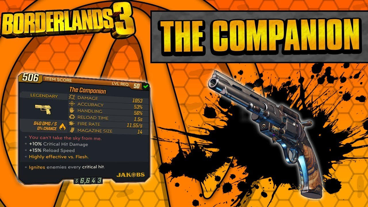 Borderlands 3 | The Companion Legendary Weapon Guide (Fire Jakobs!) thumbnail