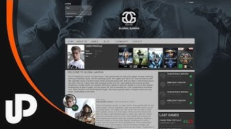 Awesome Gaming Clan Website gestalten! [Speedart]