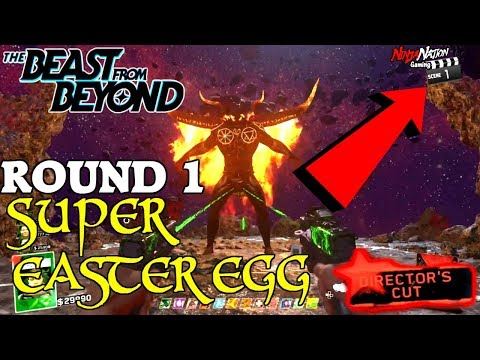 "ROUND 1 SUPER BOSS BATTLE ""THE BEAST FROM BEYOND"" EASTER EGG 