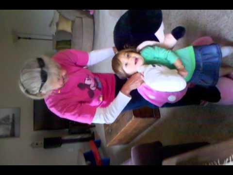 Chloe Meets Giant Stuffed Minnie