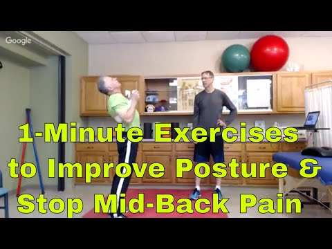 1-Minute Exercises to Improve Posture & Stop Mid-Back Pain-Thoracic
