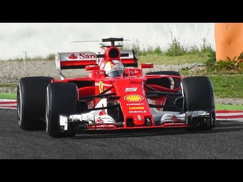 Ferrari SF70H F1 2017 Sound - Vettel & Räikkönen Testing in Spain