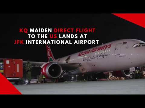 KQ Maiden Direct Flight To The US Lands At JFK International Airport