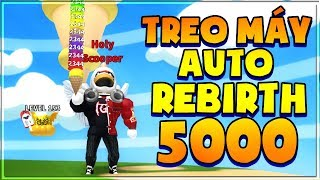 ROBLOX | CHICKEN HANGING AIR INDUSTRY WAYS AUTO REBIRTH OVER 5000 TIMES | Ice Cream Simulator