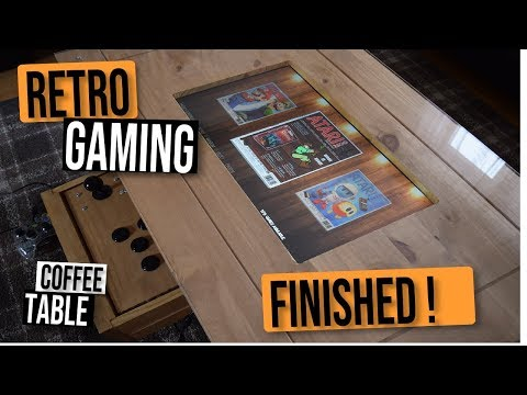 Raspberry PI Retro Arcade Gaming Coffee Table – FINISHED – CHECK IT OUT !