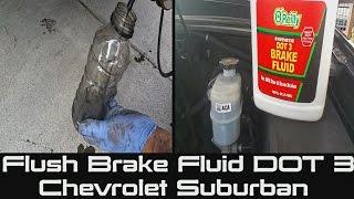 How to Flush Brake Fluid on Chevrolet Suburban   Tahoe   Bleeding or Flushing Your Brake Fluid DOT 3