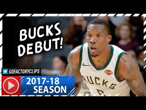 Eric Bledsoe Official Bucks Debut Highlights vs Spurs (2017.11.10) - 13 Pts, 7 Ast