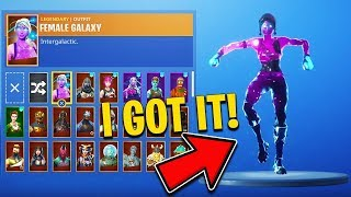 The New FEMALE GALAXY SKIN in Fortnite..