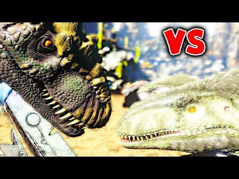 ARK Survival Evolved - MEGALOSAURUS VS ALLOSAURUS, 1000 MEGALOSAURUS VS GIGANOTOSUAURS ( Gameplay )