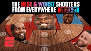 The best and worst shooters of the 2020-21 NBA season from everywhere on the floor