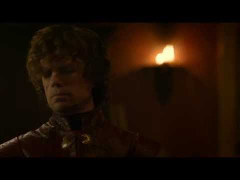 S3E8 Game of Thrones: Tyrion and Sansa in their bedroom