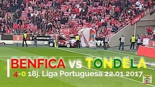 RESUMO alargado Benfica 4 x 0 Tondela ao vivo - 18j. Liga Portuguesa 22.01.2017 1080p 60fps