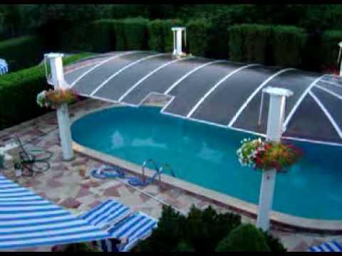 aufbau einer pool schwimmbad schwimmbecken ueberdachung doovi. Black Bedroom Furniture Sets. Home Design Ideas