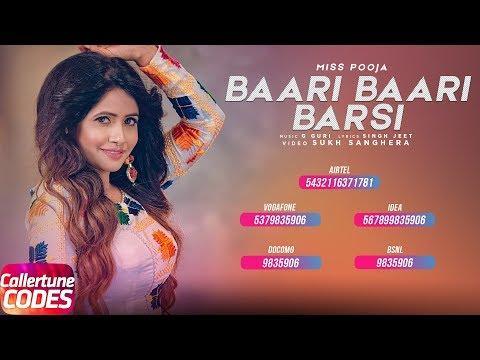Baari Baari Barsi (Callertune Code) | Miss Pooja | G Guri | SukhSanghera | Speed Records