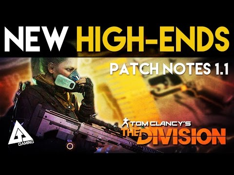 The Division NEW High End Weapons & Crafting Changes | Patch Notes 1.1